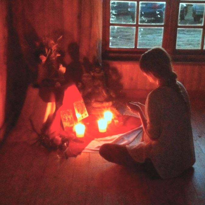Rachel Zinman Yoga candle meditation
