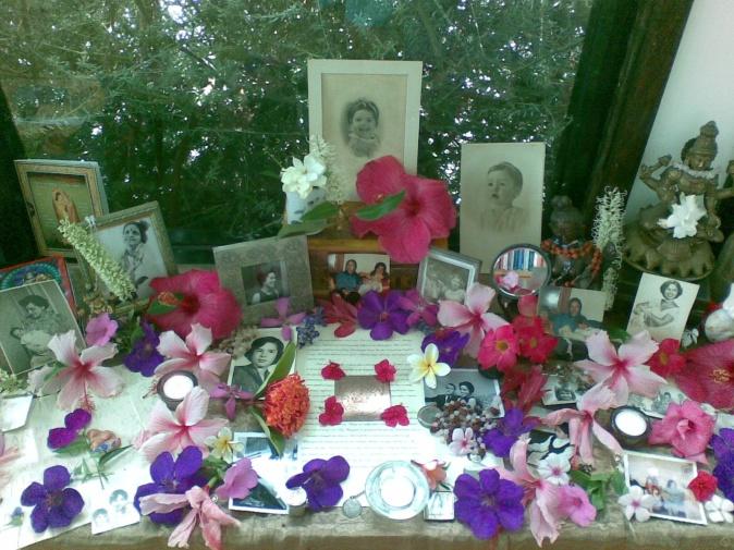 altar for Leslie