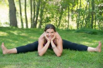 Yoga - straddle stretch
